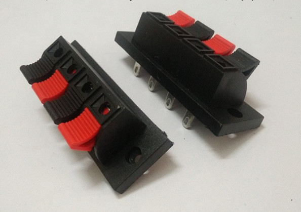 Audio Wire Connectors : Wholesale pcs pin push red and black spring type