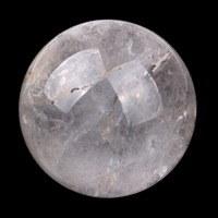 Natural Carved 35mm Tumbled Clear Quartz Sphere Polished Rock Crystal Ball Healing Crystal Fengshui Ornament SPH126