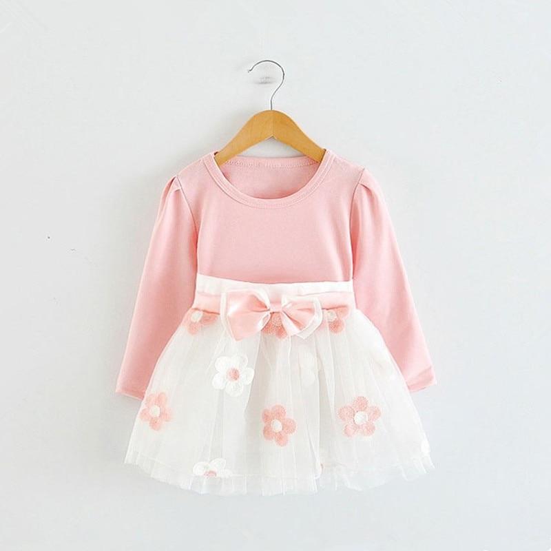 Long Sleeve 1 Year Girl Baby Birthday Dress 0 2T Newborn Toddler Christening Dresses Winter Girl Casual Clothes Vestido Infantil