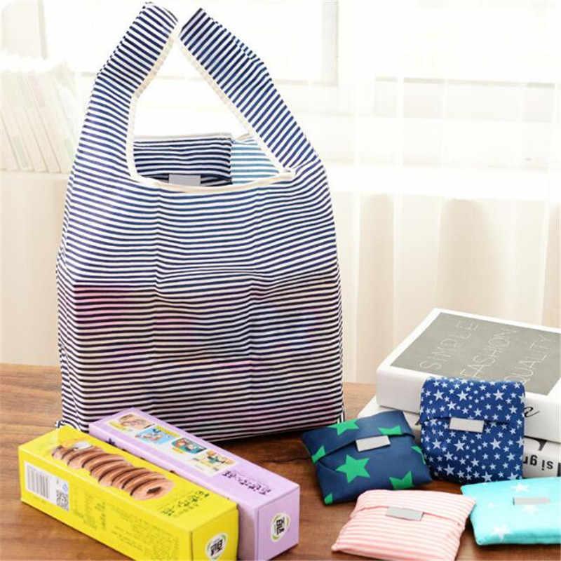 販売ファッションポータブル女性ショッピングバッグクリエイティブ印刷オックスフォード布折りたたみレディースバッグキッチン収納バッグホームアクセサリー