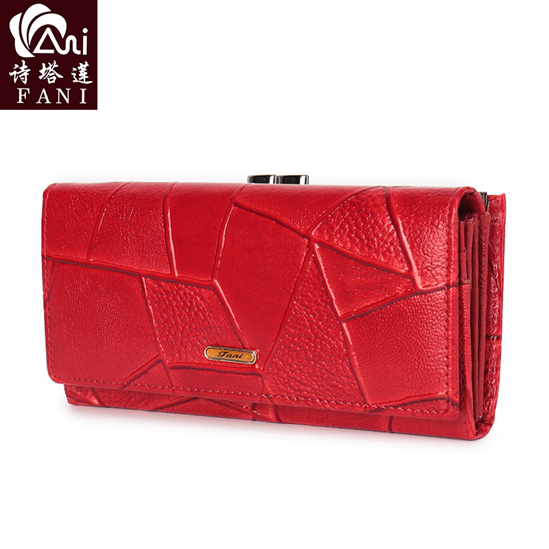 FANI Female Women Wallet Multi function Womens Wallets Brand Purses New Wallet Long Coin Card Holder Wallet Women Red Brown