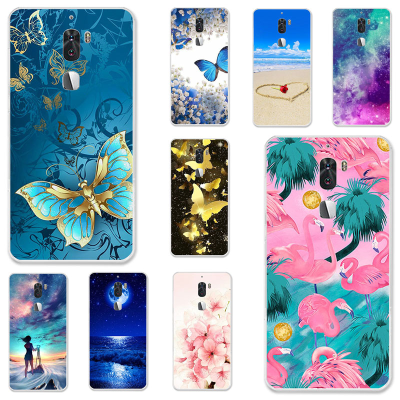 TPU Cases For LeEco Cool 1 Case Silicone Floral Painted Bumper For LeEco cool 1 Dual Leeco Coolpad Cool1 5.5 inch Phone Cover