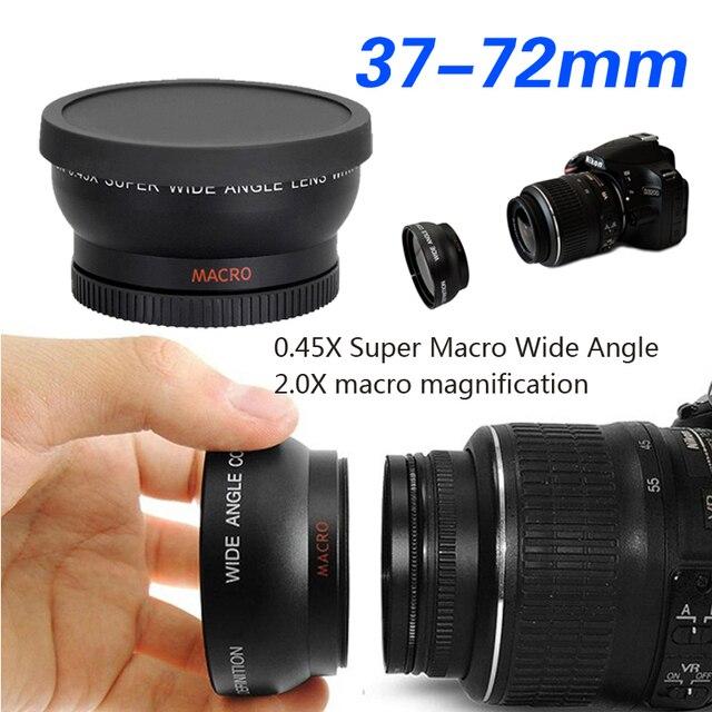 37MM43 46 49 52 55 58 67 72mm 0.45X Super Macro Wide Angle Fisheye Macro photography Lens for Canon NIKON Sony PENTAX DSLR DV
