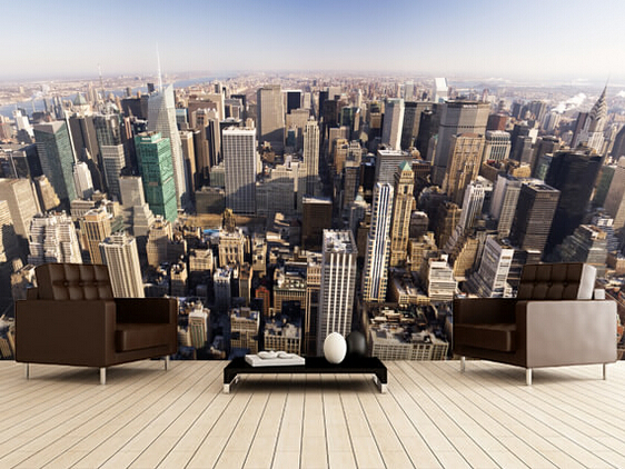 Custom Photo Wallpaper, New York City,3D Wallpaper Mural