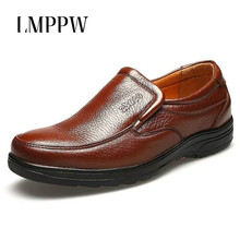 High Quality Men Shoes Father Soft Moccasins Footwear Comfortable Outdoor Casual Men Leather Shoe Slip on Men Loafers Breathable natural leather moccasins men summer shoes casual breathable men loafers handmade slip on high quality