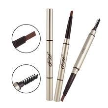 цены на 1Pcs Dual Head Eyebrow Pencil Auto Waterproof Long Lasting Natural Eyebrow Pen with Eyebrow Brush 2 in 1  в интернет-магазинах