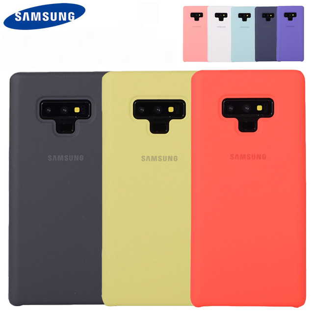 new concept bc422 37e60 US $39.0 |100% Original Silicone Back Cover Case for Samsung Galaxy Note 9  EF PN960 Anti Wear Protection 6 colors-in Half-wrapped Case from Cellphones  ...