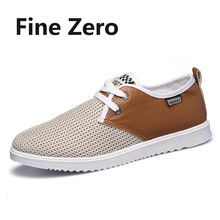 Fine Zero New 2017 Male Summer Breathable Men Casual Shoes Male Flats Zapatillas Deportivas Mujer oxfords matching flat shoes