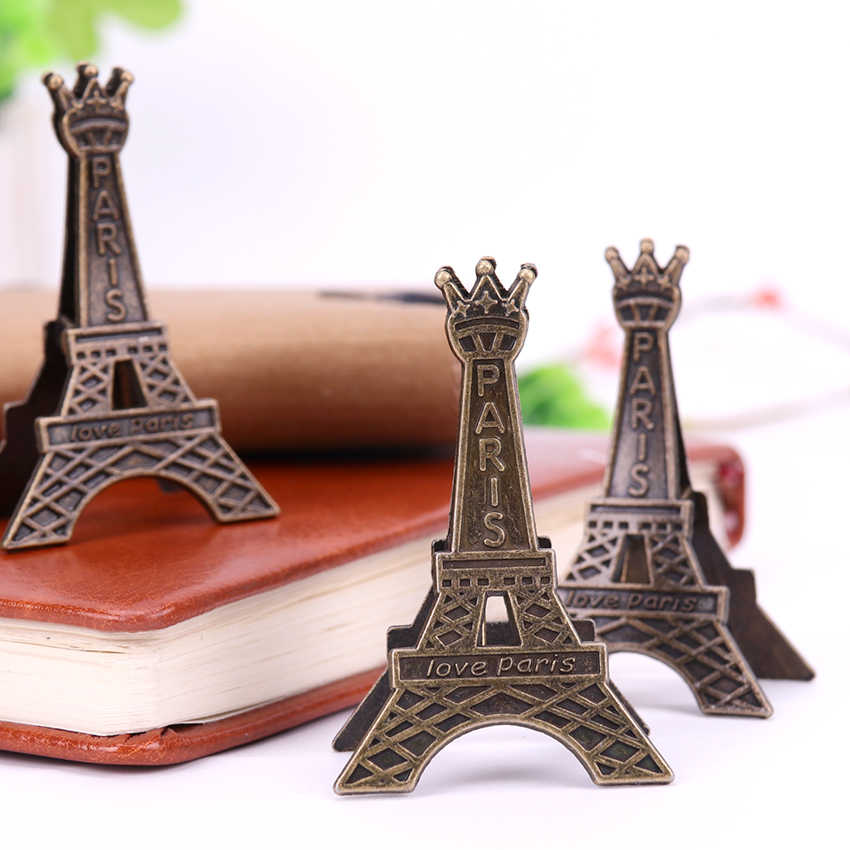 1PC Paris Eiffel Tower Metal Clips Bookmark Paper Clip Metal Material Bookmarks for Book Stationery School Office Supplies