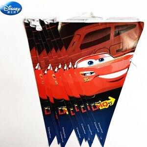 Image 2 - 68pcディズニーハッピーバースデー子供macqueen車男の子シャワーパーティーの装飾セットバナーストローカッププレートサプライヤー