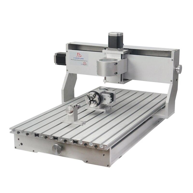 4 axes en aluminium CNC cadre Kit 6040 80mm broche moteur montage 1605 vis à billes