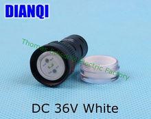 20 шт./лот DC 36 В светодиодный индикатор питания лампы диаметром 16 мм световой сигнал AD16-16C белый цвет