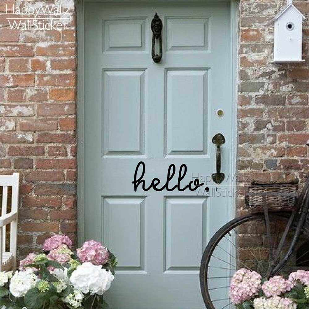 Renkli oturma gruplari 5 quotes - Hello Quote Wall Sticker Family Quote Wall Decal Decorating Diy Hello Wall Decals Removable Easy Wall