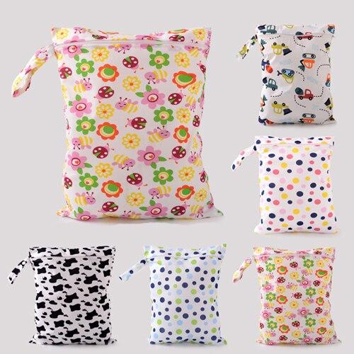Baby Diaper Bags Character Print Changing Wet Bag Baby Cloth Diaper Handbag Brand Baby Swim Diaper Nappy Bag QD59