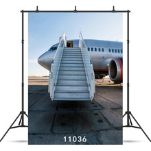 Airplane Ladder Vinyl Photography Background For Children Baby New Born Shower Agult Backdrop Photocall Photo Booth Studio