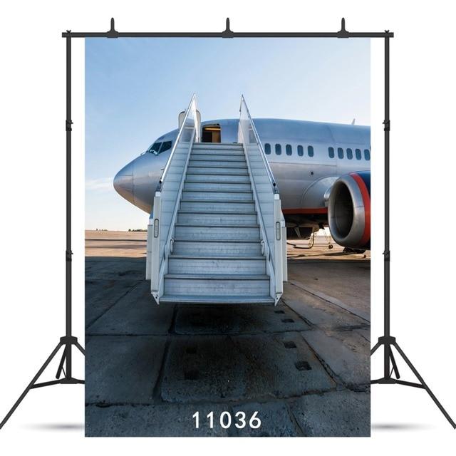 Samolot drabina Vinyl fotografia tło dla dzieci noworodki Baby Shower Agult tło Photocall foto budka Studio