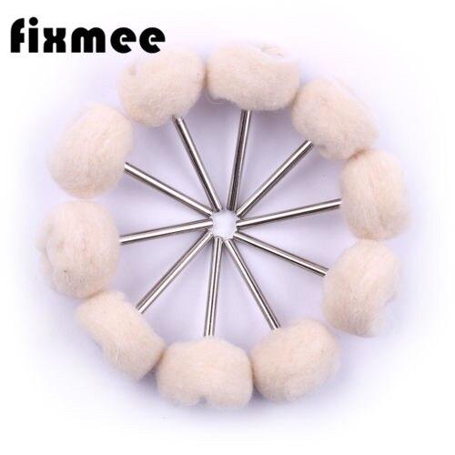 100pcs 24mm Head Diameter Cashmere Grinding Head With Handle Wool Wheel Wood Polishing Cleaner Grinding Tools