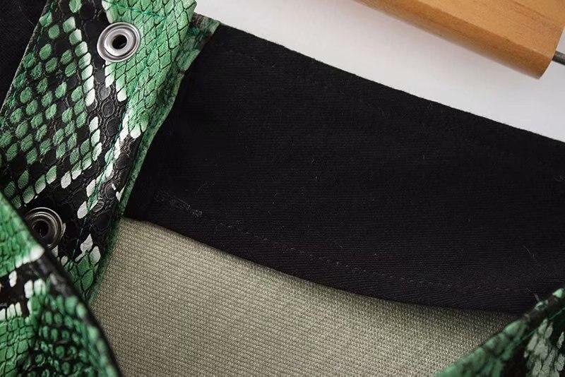Jupe Las Cuero Faldas Falda Mujeres Mujer Hembra 02 De Estampado Lápiz Pu Mini Verde Serpiente Imitación 01 OO6rv0q7