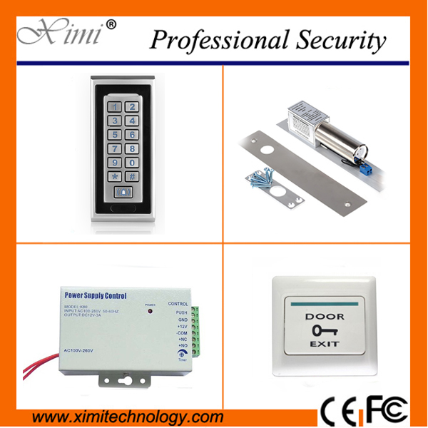 Metal face RFID access control with 2000 users single door access control standalone card reader M601 access control kit wg input rfid em card reader ip68 waterproof metal standalone door lock access control with keypad support 2000 card users
