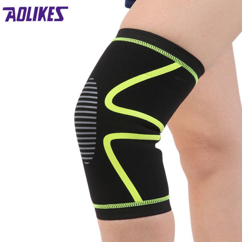 2017  Elastic Knee Brace Pads Bracelet Set of Knee Bracelet Basketball Volleyball Safety band 1 PCS