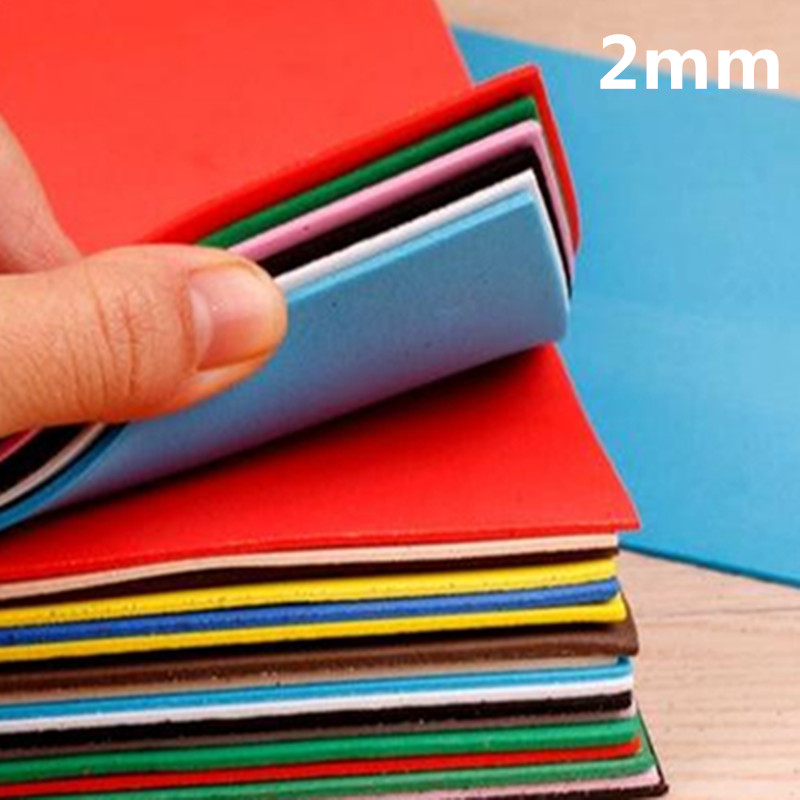 Free Shipment 2mm Thickness A4 Size Kindergarten Handmade Materials, Rubber Eva Foam24pcs / Lot