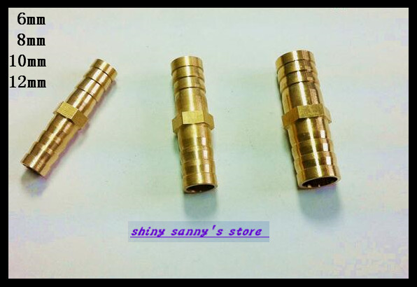 15Pcs/Lot  2 ways 12mm BSP Straight Hose Barbed Connection Pipe Brass Coupler Adapter Brand New 15pcs lot 3 ways 10mm bsp tee hose barbed connection pipe brass coupler adapter brand new