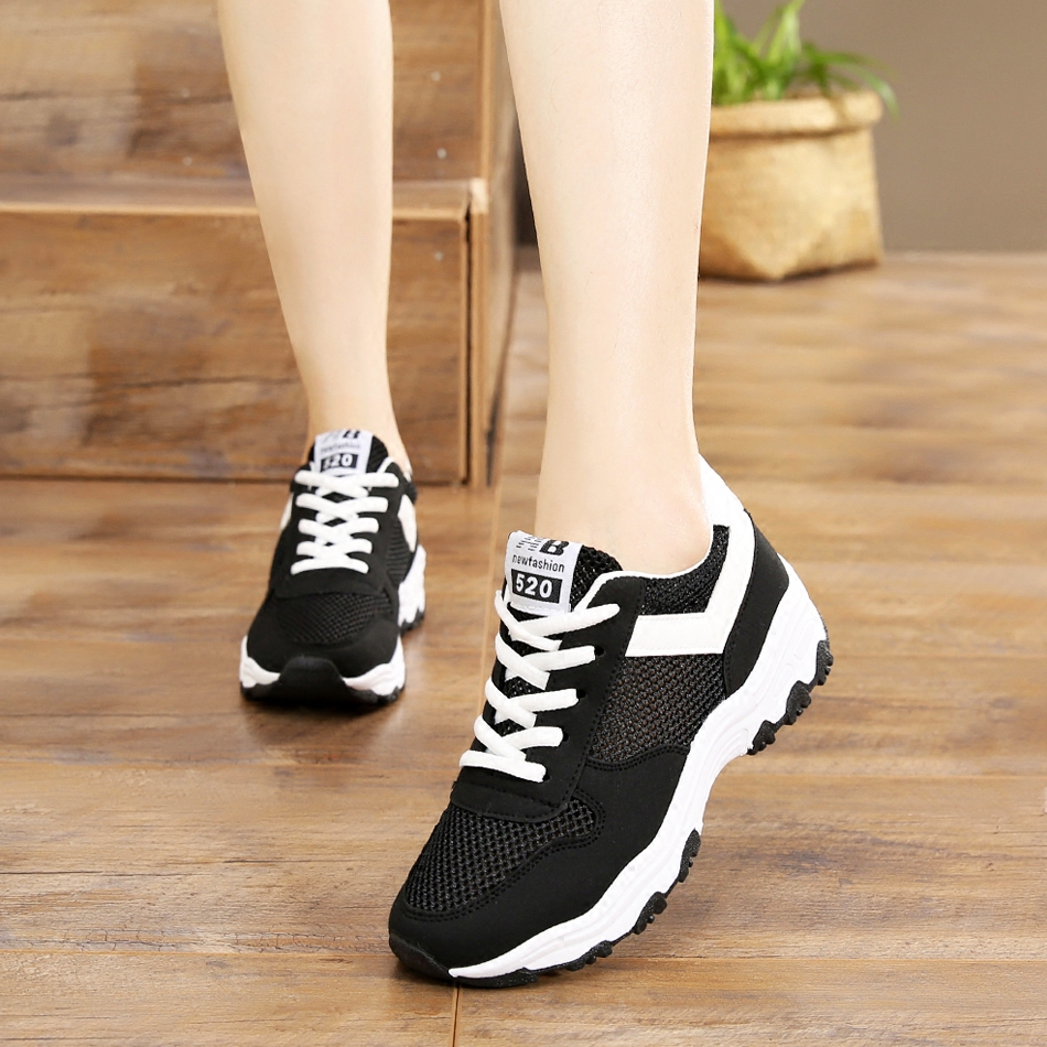 2019 spring and summer new wild breathable mesh small white shoes flat casual shoes