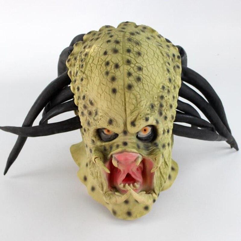 Alien vs Predator máscara de látex Cosplay película depredador de Halloween Terror máscara Prop