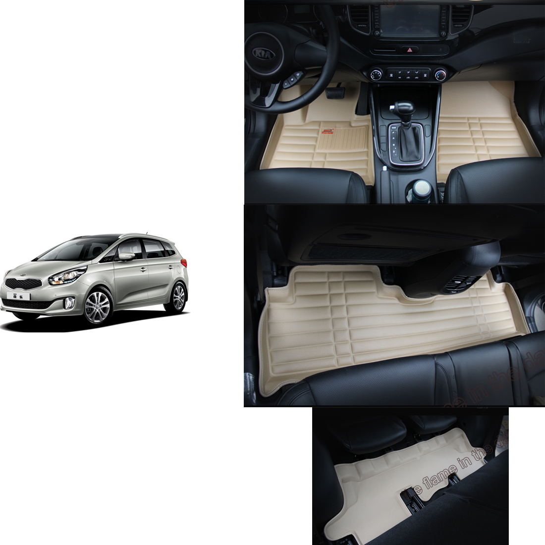 Floor mats kia - Free Shipping Leather Car Floor Mat Carpet Rug For Kia Rondo Carens 3rd Generation 2013 2014 2015 2016 2017 7 Seater Mat 3 Rows