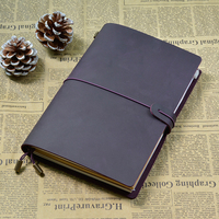 Genuine Leather Notebook Handmade Traveler Notebook Cowhide Vintage Retro Style Journal Spiral Diary Free Shipping