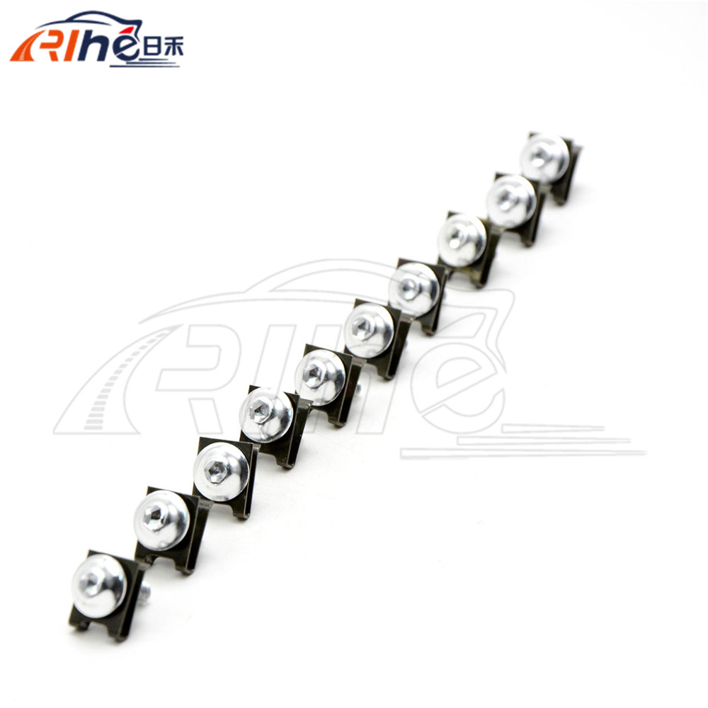 10 pieces 6mm motorcycle fairing body screws For KAWASAKI <font><b>ZX10R</b></font> 2004 2005 2006 2007 <font><b>2008</b></font> 2009 2010 2011 2012 image