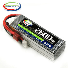 MOSEWORTH 4S RC Lipo סוללה 14.V 2600mAh 35C עבור מטוס RCCopter מטוס סירה מטוס מסוק מטוס Li-ion סוללה 4S AKKU