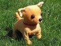 Animales de juguete de peluche 16 cm Eléctrica perro Chihuahua cachorro ladrando para caminar y moviendo la cola perro muñeca regalo de los niños w359