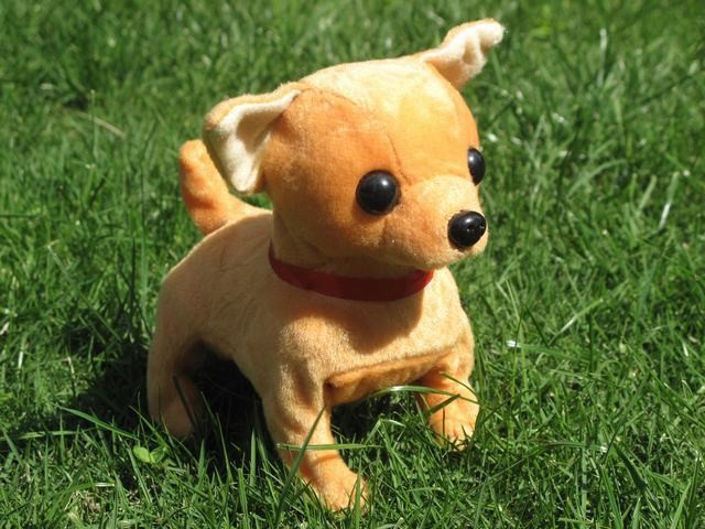 Stuffed Animal Toy 16cm Electric Chihuahua Dog Barking Puppy Walking