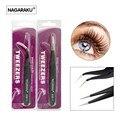 NAGARAKU 2pcs set,ESD-12 & ESD-15,stainless non-magnetic , eyelash extension tweezers,eyelash tweezers,false eyelash tweezers.
