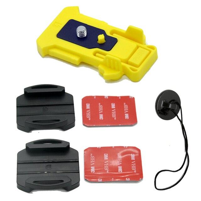 곡선/평면 표면 마운트 접착 스티커 소니 액션 FDR X3000 HDR AS100 AS15 AS20 AS300 AS200V AS50 Anti lost Leash Strap