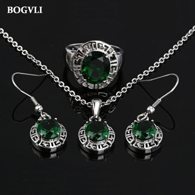 Conjuntos de jóias de noiva de cristal de aço inoxidável com mulheres colar e brincos set