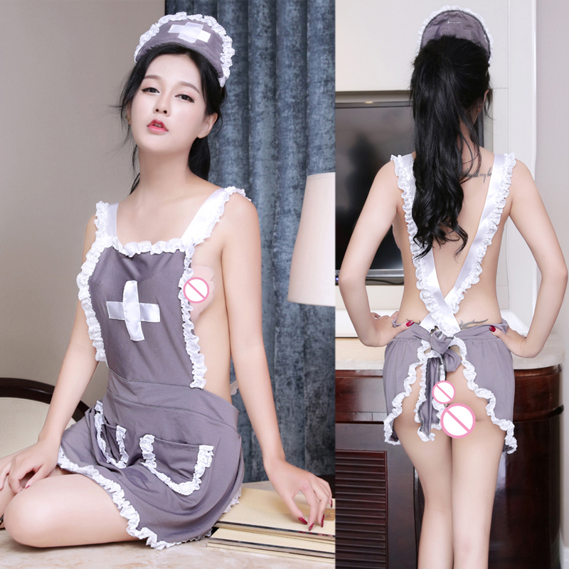 Novelty & Special Use 2017 Apron Sexy Nurse Sexy Costumes Maid Sexy Lingerie Hot Lace Erotic Lingerie Cosplay Sexy Underwear Backless Nightwear 646 Cleaning The Oral Cavity. Exotic Apparel
