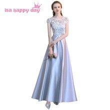 Brides kleid braut silber grau elegante lange brautjungfer vintage satin brautjungfern  kleider unter 100 für frau c37d0f86de