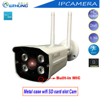 WTHUNG Kablosuz Kablolu IP Kamera 720 P 960 P 1080 P Desteği 2.4G Ev Için WIFI Onvif SD Kart hareket Algılama Su Geçirmez IP66 kamera