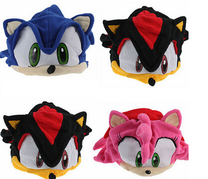1PCS Sonic Fleece Push Hat Sonic The Hedgehog Plush Cap Cosplay Hats Free Shipping