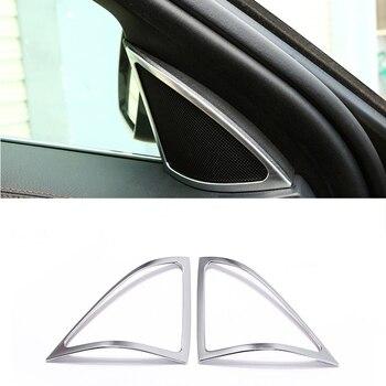 Pegatina de ABS mate cromado para altavoz de puerta delantera, cubierta embellecedora para Mercedes Benz W222 s-class S320 S400 AMG 2014-17, accesorios para coche