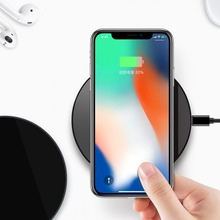 hot deal buy flash sale wireless charger ultra slim qi charging pad abs frame for iphone x/iphone 8/8 plus galaxy s8/note 8/s7/s7 edge black