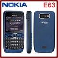 Abierto original nokia e63 teléfonos móviles 3g wifi bluetooth reproductor de mp3 cámara de 2mp reformado teléfono garantía de un año