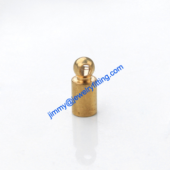 2013 Jewelry findings raw brass End caps for laether cord clasp crimp end cap chain end caps 3*7mm
