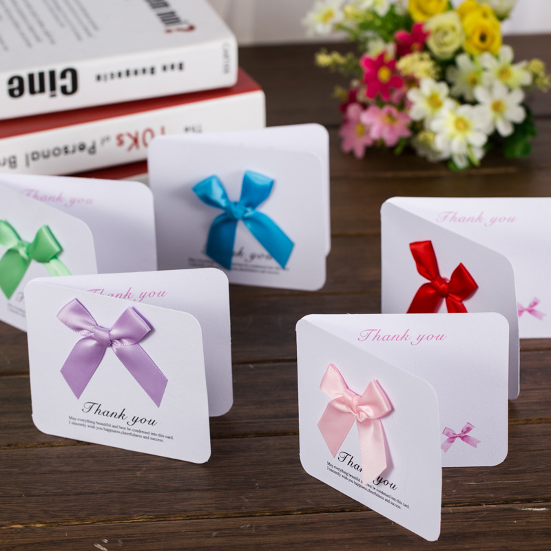 DoreenBeads 5PCs 2018 New Creative Cards With Envelope Mini Greeting Card Thank You Card Birthday New Year Message Card