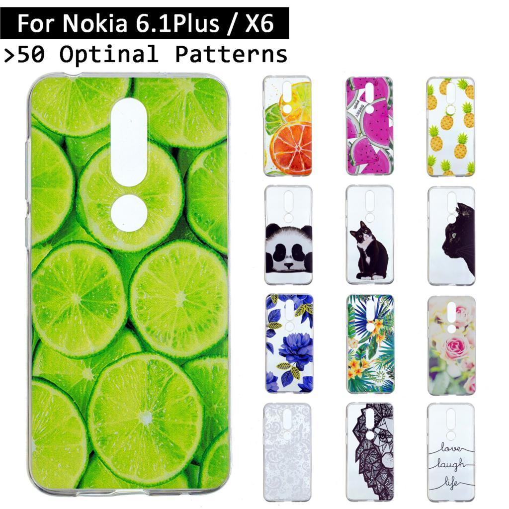 Newest TPU Case Cover For Nokia 6.1 Plus/X6 Luxury Back Shells For Nokia 6.1Plus/X6 X 6 Coque Fundas For Nokia6.1 Plus Cases bag
