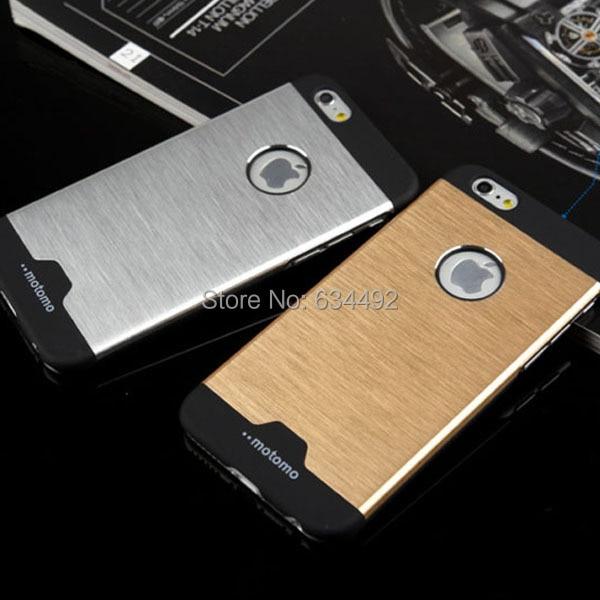 the latest 4df46 c870d US $2.49  2015 NEW Motomo Luxury Metal Breathable Hard Case for Apple  iPhone 6 4.7' i6 Back Cover Aluminum Back Case Capa Celular on  Aliexpress.com   ...