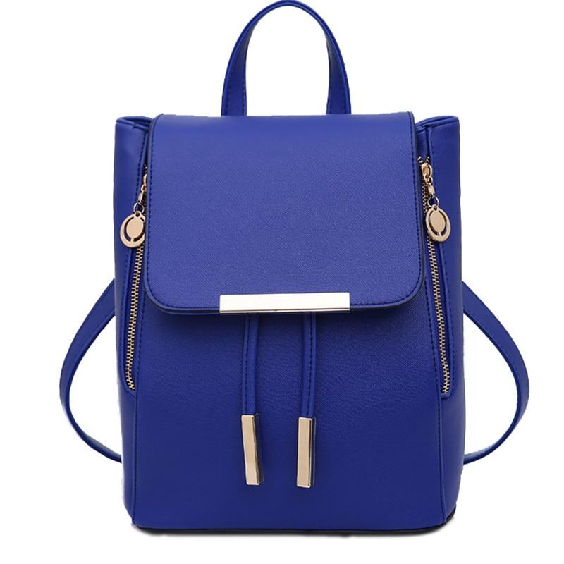 Fashion Women Leather backpack Solid Purse Sling Shoulder Tote Bag ...