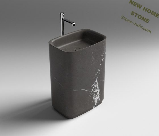 Genial Modern Bathroom Sink Pedestal 2015 Famous Stone One Piece Black Marble  Carved Sink Best Seller Magnificent